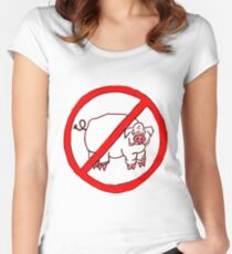 No Hogs Circle  Women's Fitted Scoop T-Shirt