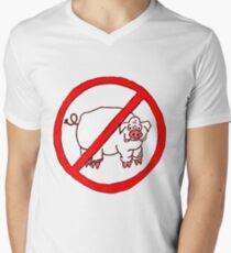 No Hogs Circle  Men's V-Neck T-Shirt