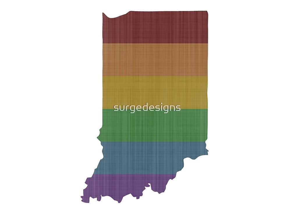 Indiana Rainbow Gay Pride by surgedesigns