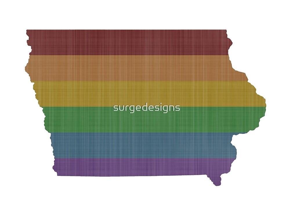 Iowa Rainbow Gay Pride by surgedesigns