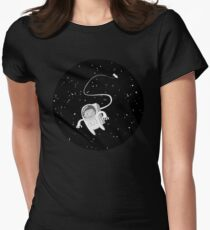 hamster astronaut Womens Fitted T-Shirt