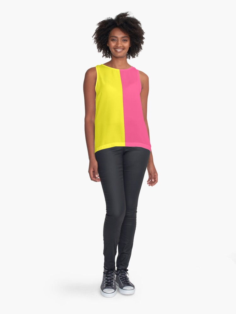 Alternate view of Pink & Yellow Block Sleeveless Top