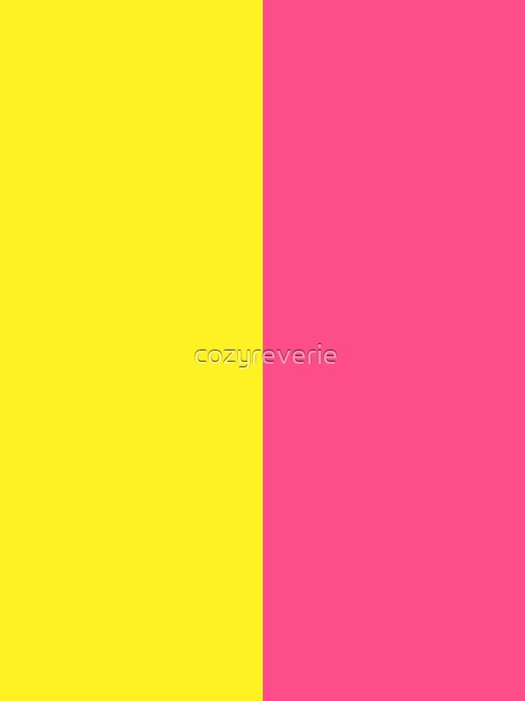 Pink & Yellow Block by cozyreverie