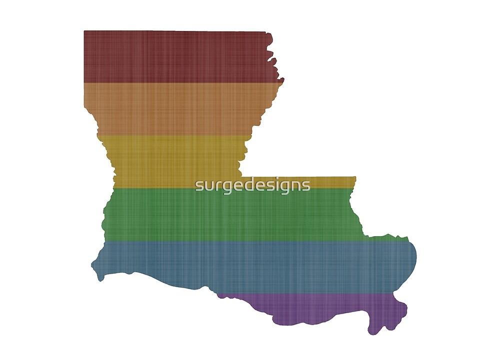 Louisiana Rainbow Gay Pride by surgedesigns