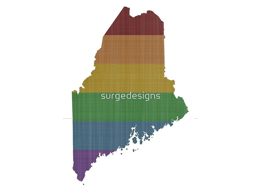 Maine Rainbow Gay Pride by surgedesigns