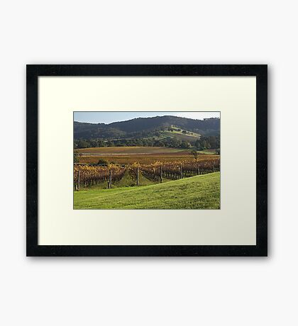 Winery with a View - Country Victoria Framed Print