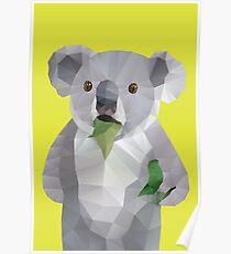Koala with Koalafication Polygon Art Poster
