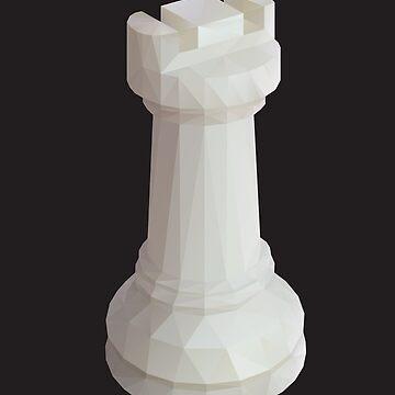Rook Chess Piece polygon art by polymolystudio