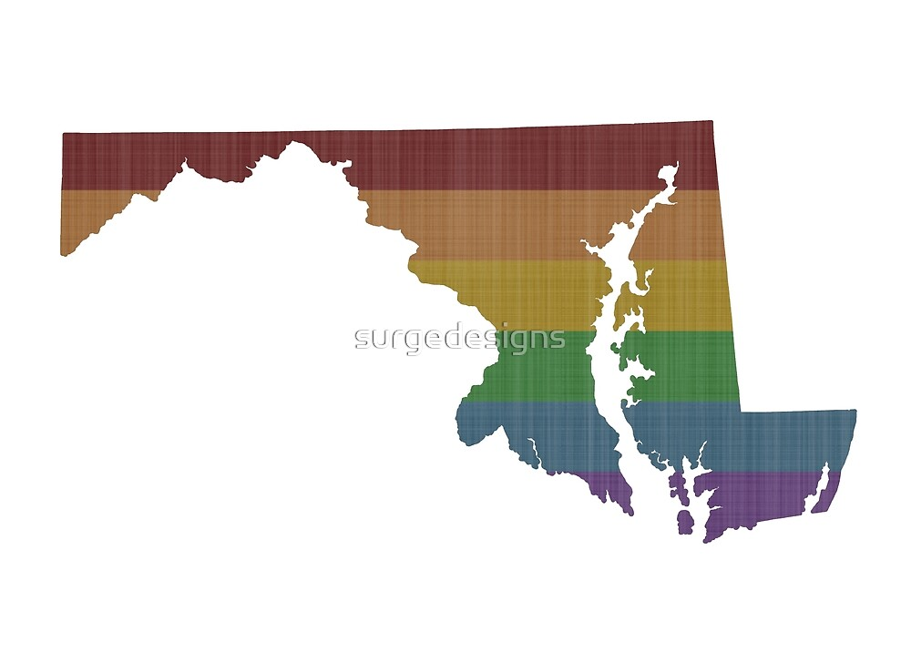 Maryland Rainbow Gay Pride by surgedesigns