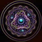 Beautiful Turquoise and Amethyst Fractal Jewelry by jaya-prime