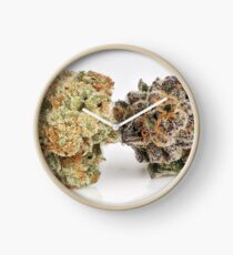 Cannabis Flower Fire and Ice Clock