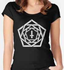 BRUTAL STYLE RETRO LOGO (on black) Women's Fitted Scoop T-Shirt
