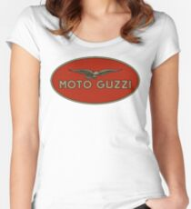 Moto Guzzi Retro Logo Women's Fitted Scoop T-Shirt