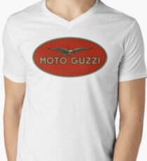 Moto Guzzi Retro Logo Men's V-Neck T-Shirt