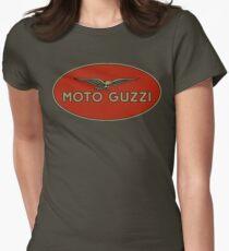 Moto Guzzi Retro Logo Womens Fitted T-Shirt