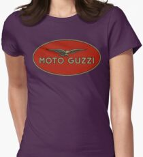 Moto Guzzi Retro Logo Womens Fitted T-Shirt
