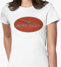 Moto Guzzi Retro Logo Women's Fitted T-Shirt