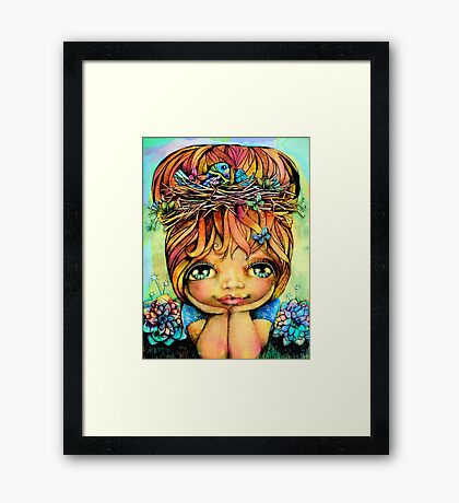 Taisie Blue Framed Print
