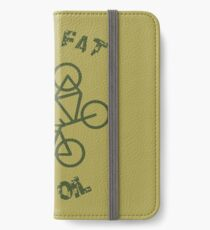 Burn Fat Not Oil Recycle Code Parody Green Graphic iPhone Wallet/Case/Skin