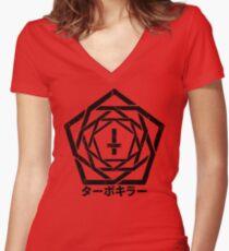 TURBO KILLER v2 - BRUTAL STYLE Women's Fitted V-Neck T-Shirt