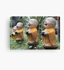 Small Buddha Statues Canvas Print