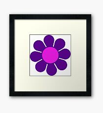 Purple Pink Hippy Flower Daisy Framed Print