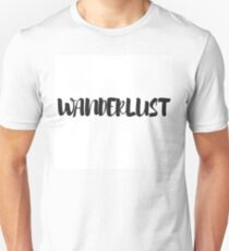 Black and White Typography Wanderlust Word Art T-Shirt