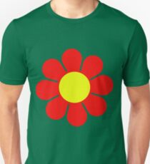 Red Yellow Hippy Flower Daisy Unisex T-Shirt
