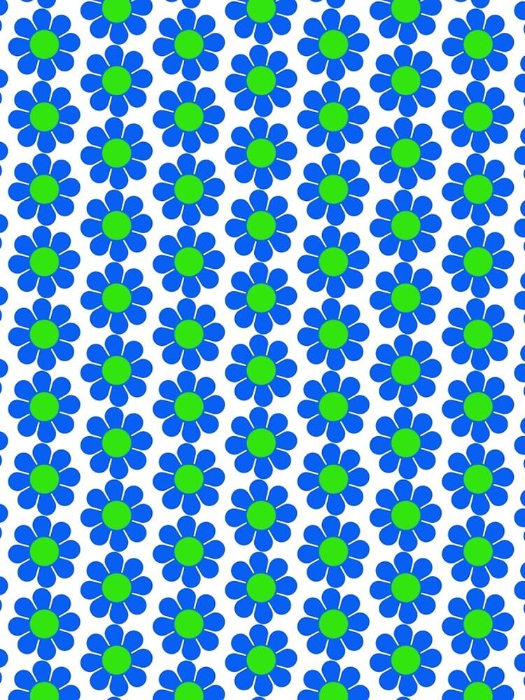 Blue Green Hippy Flower Daisy by hilda74