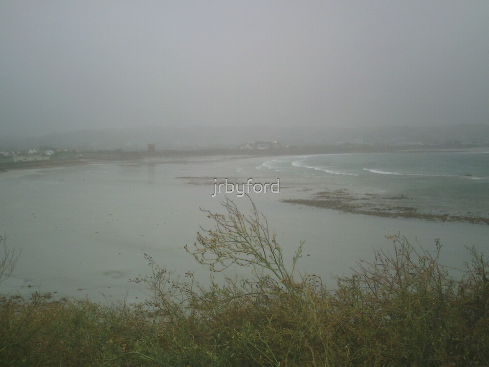 West Coast of Guernsey on a Rainy Summer's Day by jrbyford