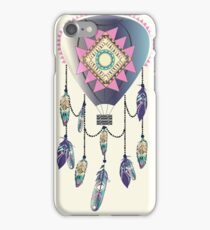 Bohemian balloon dreamcatcher with aztec ornament and feathers iPhone Case/Skin
