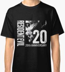 Resident Evil - 20th Anniversary With Anniversary Text Classic T-Shirt