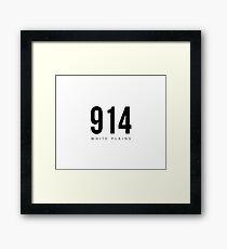 White Plains, NY - 914 Area Code Framed Print