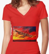 The Sikorsky Ilya Muromets 1914 Women's Fitted V-Neck T-Shirt