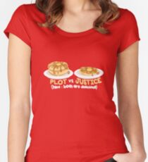 PLOT VS. JUSTICE Women's Fitted Scoop T-Shirt