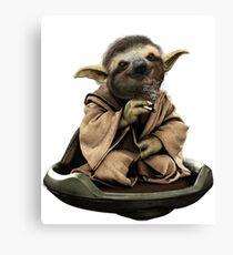 Inner Peace Sloth Yoda  Canvas Print