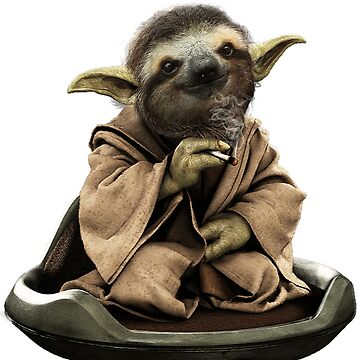 Inner Peace Sloth Yoda  by Bubolina