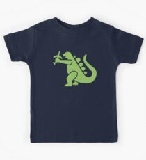 Godzilla Grabs a Plane - Fun Kid T-Shirt by Hans Kids Tee