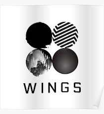 BTS Wings [White] Poster