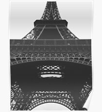 Eiffel Tower Black & White Poster