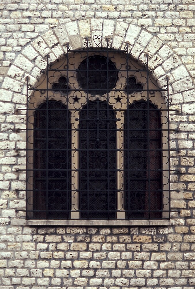 Brick and iron window by sasjacobs