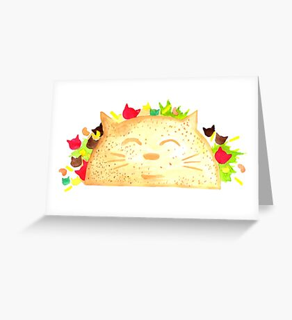 Taco Cat - By Merrin Dorothy Greeting Card