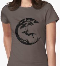 Swinging on the Earth Womens Fitted T-Shirt