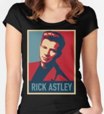 RICK ASTLEY IN POSTER -FAJAR- Women's Fitted Scoop T-Shirt