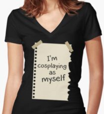 Me Myself Women's Fitted V-Neck T-Shirt