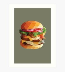 Gourmet Burger Polygon Art Art Print