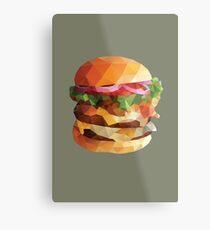 Gourmet Burger Polygon Art Metal Print