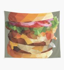 Gourmet Burger Polygon Art Wandbehang