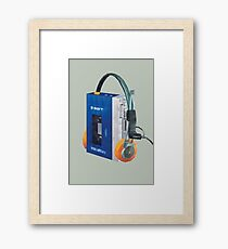 Sony Walkman TPS-L2 with MDR-5A Headphone Polygon Art Framed Print