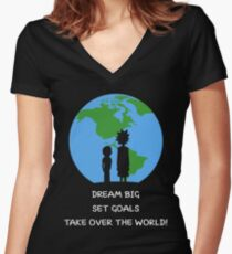 Dreams and Goals Women's Fitted V-Neck T-Shirt